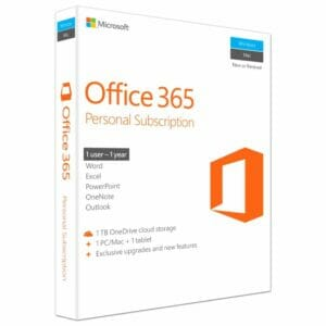 Office 365 Personal (Medialess. 1 Year Subscription)