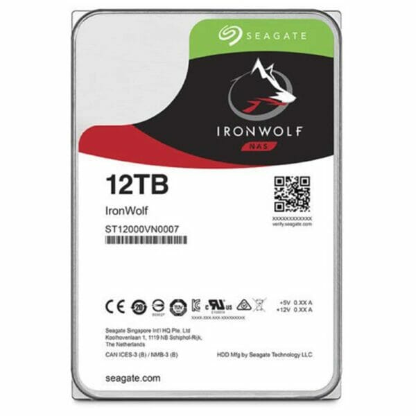 12TB Seagate IronWolf HDD 7200RPM