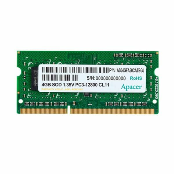 4GB DDR3 1600MHz Low Voltage Notebook Memory