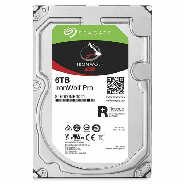 6TB Seagate IronWolf Pro HDD 7200RPM