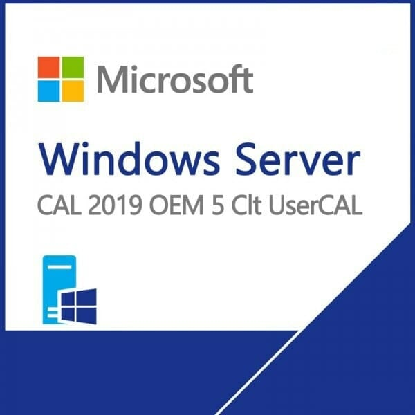 Microsoft Windows Server 2019 5 User Client Access License