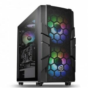 Thermaltake Commander C33 Dual 200MM ARGB Fans Tempered Glass ATX Mid-Tower Chassis