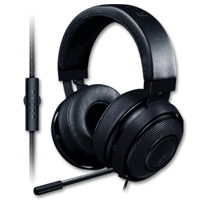 Razer Kraken Gaming Headset, Fully Retractable Mic, Wired