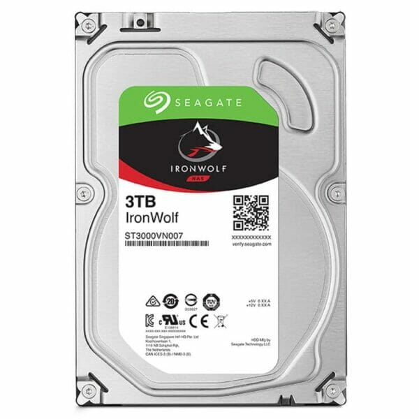 3TB Seagate IronWolf HDD 5900RPM