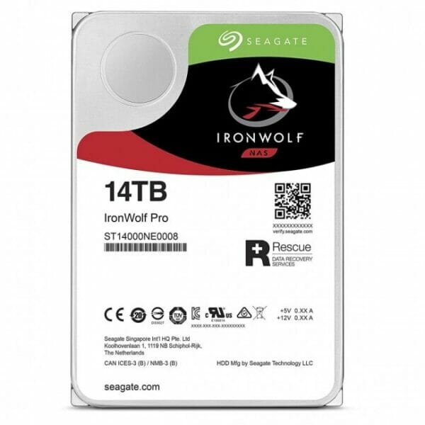 """Seagate Ironwolf Pro 14TB 3.5"""" HDD NAS Drives"""