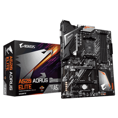 Gigabyte A520 Aorus Elite Motherboard For AMD AM4 CPU