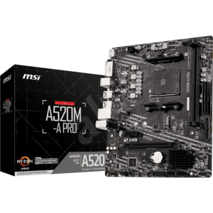 MSI A520M-A Pro Motherboard For AMD AM4 CPU
