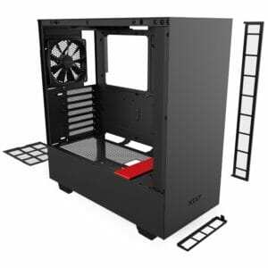 NZXT H510 Black And Red ATX Desktop Case